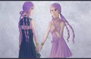 sailor lethe and sailor mnemosyne  Lethe and Mnemosyne by
