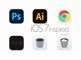 iOS 7 inspired Icons by pCgvrtx