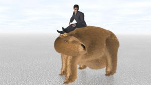 Man Riding Giant Wombat a Third Time by ManyardButler