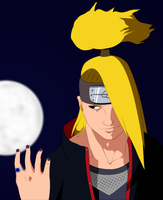 Deidara: Touch the Moon by SractheNinja