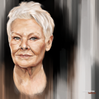 Judi Dench by dankershaw