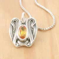 Spoon Pendant with Citrine by metalsmitten