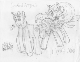 Shaded Angles and Flying minx by Masterweaver