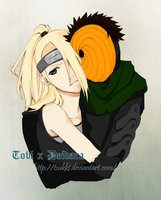 Naruto - Tobi and Deidara by Tsukki