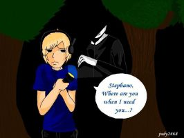 Pewdie chased by Slender (Improve) by judy2468