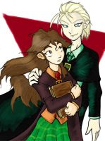 Draco and Hermione by Kaon-Lowe