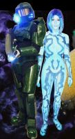 MasterChief + Cortana Costumes by sica1616