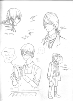 AoH - Male Sketches 1 by Dragon-Shojo