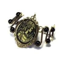 Steamgoth Bracelet - Victorian Zombie Cameo by CatherinetteRings