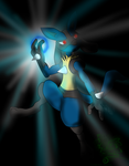 Lucario in the darkness by Fangy-From-Shadow
