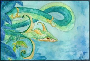 Serperior - Bluish Green by Embrymandre