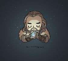 Thorin and Arckenstone by haleyhss