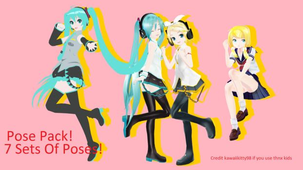 MMD POSE PACK DL by kawaiikitty98