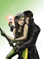 loving rogue and gambit by Angel2489
