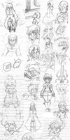 Plentiful Sketches for the Sake of Viewing Part 3 by stevobread