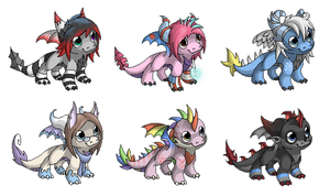 Pixel chibi set 3 by Nordeva