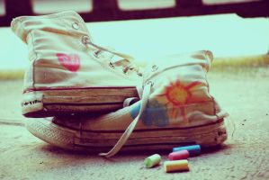 all stars and chalks by MoonlessNightGirl