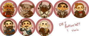 Dragon Age: Inquisition Button Set by jamknight