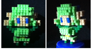 Saria (3d dot hero game character Request) by VoxelPerlers