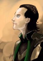 Loki drawn on the iPad by reloadfreak