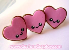 Happy heart cookie rings by The-Cute-Storm