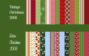 Vintage-Retro Xmas Patterns by Camxso