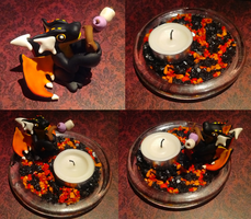 Toasting Marshmallows - Candle Dragon by Alexandrite-Dragons
