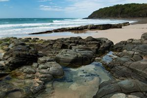 Noosa National Park beach pool by wildplaces