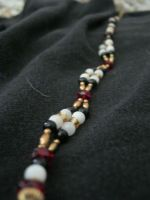 necklace - red and gold 2-strand by Galasdian