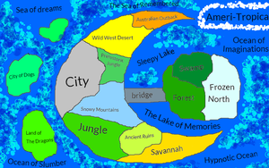 The map of Ameri-Tropica by conlimic000