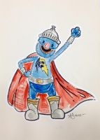 Commission - Super Grover by freddyscribbles