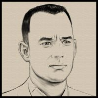 Forrest Gump - Tom Hanks by AndyWYC
