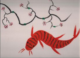Chinese Painting with Acrylic Paint by DRAGONLOVER101040