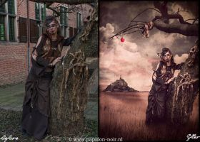 Before and After Tribal Eve by Papillon-Noir-Art
