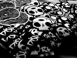skull stickies by atwhc