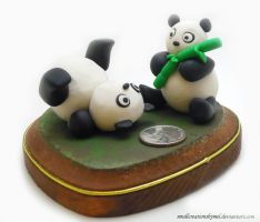 A Pair of Pandas by SmallCreationsByMel