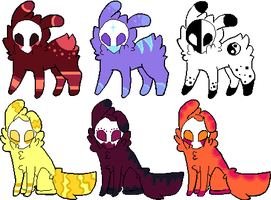 Skull Mask Adopts :All taken: by SkyBlue2013