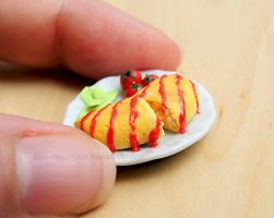Commission - Omurice Plate Magnet by Bon-AppetEats