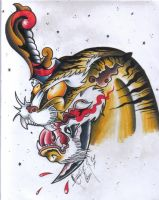 Psycho Tiger - Colored by BettieBoner