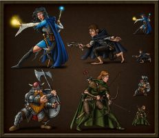 Character Tokens 2 by quellion