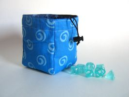 Blue Swirls Dice Bag by mousch