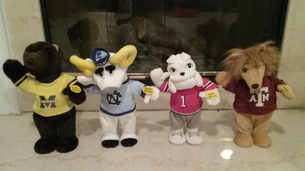 Univeristy Mascots Collection as of  4-7-2017 by Gemmygod