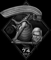 Giger 74 by painteddemons