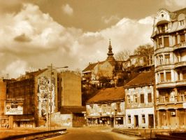 Belgrade-Part of old town by miss-Bast