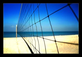 Beach Volleyball by hasanaljanaby