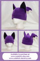Purple Bat Hat by cutekick