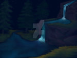 Night Waterfall by kristhasirah