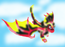 Flare flying by SuperSonicFireDragon