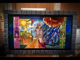 Beauty and the Beast - Castle painting by Skihaas1