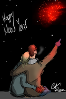 Fireworks at New Year's by JediRose